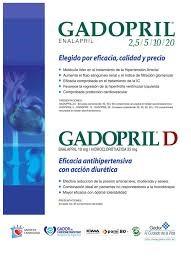 La marca Gadopril combina, en forma muy elocuente, el nombre de la empresa con el fármaco.
